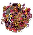 cartoon cute doodles music vector image