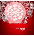 Christmas with speech bubble and snowflakes vector image vector image