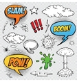 collection multicolored hand drawn comic sound vector image