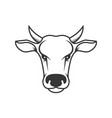 cow head design element for poster label sign vector image vector image