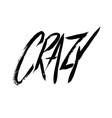 crazy sign grunge doodle cartoon icon hand-drawn vector image