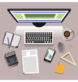 Creative students workplace vector image