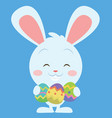 easter bunny smiling character vector image