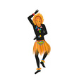 Ethnic dance african man in a mask vector image vector image