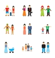 Family icons set flat style vector image vector image