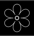flower white color icon vector image vector image