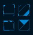 futuristic user interface vector image vector image