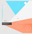 geometrical memphis style background vector image