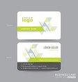 green business card design with abstract triangle vector image vector image