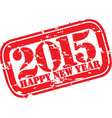 Happy new 2015 year grunge rubber stamp vector image