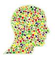 healthy human head vector image vector image
