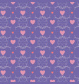 heart and polka seamless pattern vector image