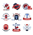 Hockey Emblems Set vector image