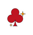 isolated casino clover fill design vector image vector image
