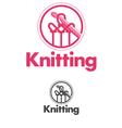 knitting logo vector image vector image
