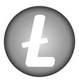 litecoin icon on white vector image vector image