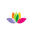 lotus flower colorful logo vector image vector image