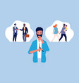 male choice family or career pensive man guy vector image