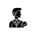 manager black icon sign on isolated vector image vector image