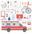 Medicine equipment vector image
