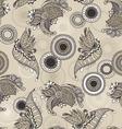 Mehndy flowers pattern vector image vector image