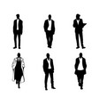 men silhouettes on white background vector image vector image