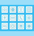 minimalistic linear icons for mobile devices set vector image vector image