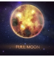 mystical bloody full moon on night sky vector image vector image
