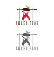 paleo food meat and arrow design template vector image