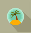 palm trees color icon of a palm tree on the vector image vector image