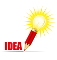 pencil and light bulb vector image vector image