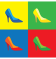 Pop art shoes vector image