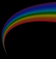 rainbow icon shape arch isolated on black vector image