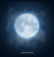 realistic beautiful moon with glow effect vector image vector image