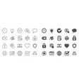 report time and globe line icons statistics vector image vector image