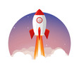 rocket launch ship begin challenge startup vector image