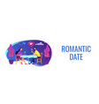 romantic date concept banner header vector image vector image