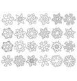 set abstract snowflakes vector image