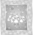 set christmas balls on snowflakes background vector image