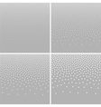 Set of Halftone White Dots on Gray Backgrounds vector image vector image