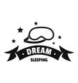sleeping logo simple black style vector image vector image
