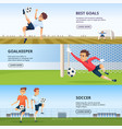sport events soccer characters playing football vector image vector image