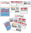 Store coupons vector image vector image