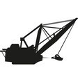 tower construction crane silhouette vector image vector image