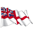 UK Naval Ensign Flag vector image vector image