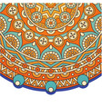 vintage circle mandala orange background im vector image vector image