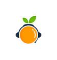 vitamin podcast logo icon design vector image