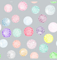 watercolor circles with ornaments pattern vector image