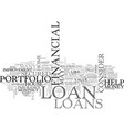 which is the best loan for you text word cloud vector image