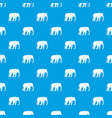 wild elephant pattern seamless blue vector image vector image